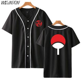 $enCountryForm.capitalKeyWord Australia - WEJNXIN New Arrival Anime Baseball Shirt Naruto Uchiha Clan Badge Print Short Sleeve Jacket High Quality Hip Hop Streetwear