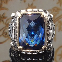 $enCountryForm.capitalKeyWord Australia - Fashion Square Sea Blue Cz Stone Ring Crystal Rings For Women Wedding Engagement Party Ring Carved Gift O5q939