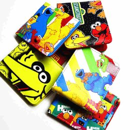 $enCountryForm.capitalKeyWord NZ - Cartoon Wallet Super Mario Sesame Street Photo Credit Card Many Style Student Short Wallet