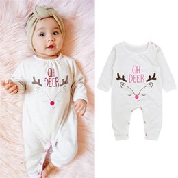 ed9b00abe276 Christmas Romper Baby Jumpsuits Australia - Christmas Baby Clothes Toddler Infant  Baby Boys Girls Long Sleeve