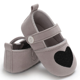 Baby Girl Summer Canvas Shoes Australia - good quality Infant Kids Baby Girls Heart Casual Summer Love Soft Anti-Slip Sole Shoes Footwear chaussures