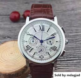 $enCountryForm.capitalKeyWord Australia - WatchesAll Dials Working Stopwatch Watch With Calendar Leather Strap Quartz Wristwatch For Men High Quality Best Gift