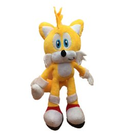 sonic hedgehog plush wholesale Australia - 2019 New Arrival 25cm New Arrival Sonic the hedgehog Sonic Tails Knuckles the Echidna Stuffed animals Plush Toys gift X40