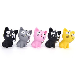 2c552ce999a1e capitalKeyWord UK - Fashion 3D Cheese Cat keychain Anime Cartoon Chi's Sweet  LED