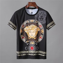 Wholesale t shirt designing for sale – custom 2019 Men s Summer New Fashion Sports T Shirt O Neck Short Sleeve Men s Design Embroidered Cotton T Shirt Men M XL