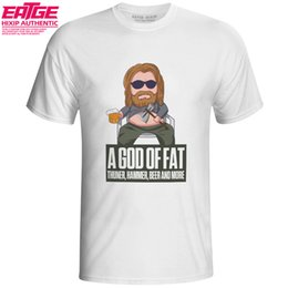 funny drinking shirts women Australia - A God Of Fat T-shirt Fat Thor Drinking Beer Style Novelty T Shirt Avengers Casual EATGE Funny Original Design Women Men Top