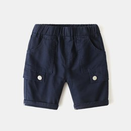 kids shorts pants for summer Canada - Children Pants kids summer trousers clothes for baby boy shorts size90~130 solid loose beach