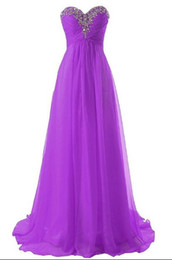 $enCountryForm.capitalKeyWord UK - Custom Made Cheap Long Formal Dresses Sweetheart Flow Chiffon Summer Bridesmaid Formal Prom Party Dresses with Crystals