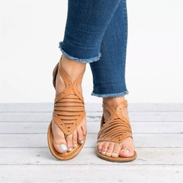 code sandals 2019 - Mini2019 Flat Woman Bottom Leisure Time Will Code Rome Toe Sandals cheap code sandals