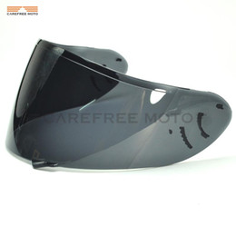 motorcycle helmets face shield NZ - Dark Smoke Motorcycle Helmet Visor Lens Full Face Shield Case for SHOEI CW1 CW-1 X-12 XR-1100 Qwest X-Spirit 2 X12 Visor Mask