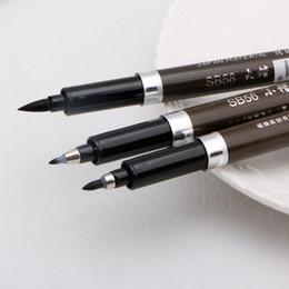 $enCountryForm.capitalKeyWord Australia - 1PC Chinese Japanese Water Ink Painting Writing Brush Calligraphy Pen Art Tool MEDIUM school office supply stationery