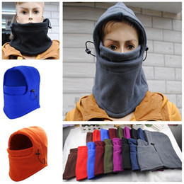 Cap Motorcycle Helmet Australia - New Arrival Double Layer Balaclava Fleece Hat Outdoor Cycling Motorcycle Windproof Helmet Mask Dustproof Sprots Balaclava Scarf For Adult