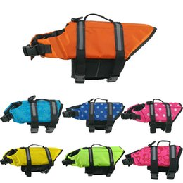 Life Jacket Suits NZ - Reflect Light Pets Life Jacket Outdoor Clothes Large Middle Small Size Dog Security Clothing Dog Training coat Swimming Suit Wholesale
