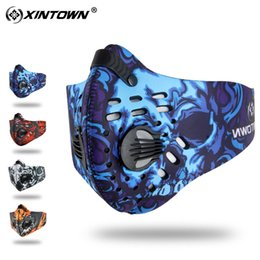 dust mask filters UK - Good Healt Outdoor Cycling Half Face Mask Dust Windproof Anti Pollen Allergy Activated Carbon Masks Filter Sports Riding Running