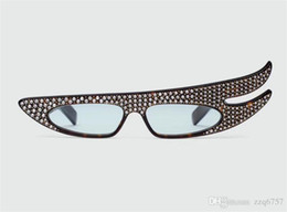 Fancy Sunglasses UK - New Fashion Designer Sunglasses 0240 Specially Designed Angel Wings Frame Set Cut Luxurious Crystal Diamond Fancy Style Glasses
