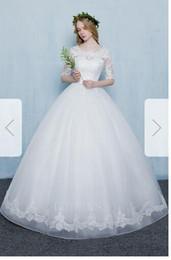 $enCountryForm.capitalKeyWord Australia - Ball Gown Scoop Sweep Brush Train Organza Wedding Dress85
