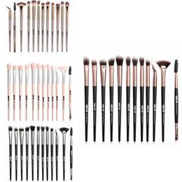 12pcs makeup brushes online shopping - Makeup Brushes Set Powder Foundation Eye Shadow Eyebrow Eyelash Eyeliner Brushes Make Up Brush Kits set RRA1192