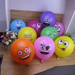 $enCountryForm.capitalKeyWord UK - 2018 100pcs 12 Inch Latex Expression Balloon New Round Cartoon Children'S Toy Smiley Balloon 2 .8g Party Decoration