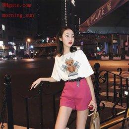 2019 moda feminina marca camisetas urso branco applique manga curta t-shirt casual camisetas mulher alta qualidade verão mulheres roupas bc-3