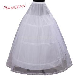 $enCountryForm.capitalKeyWord Australia - Cheap Price Hot Sale 2 layer 3 Hoop Elastic Waist Bridal Gown Drawstring Dress Petticoat Underskirt Crinoline Wedding Dress
