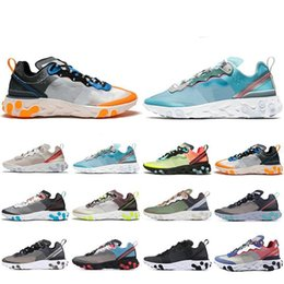 royal springs Australia - 2019 Spring React Element 87 Running Shoes For Men Women Sail Royal Tint Anthracite Volt Racer Pink Mens Trainer Sports Sneakers 36-45