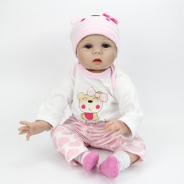 "rubber latex dolls Australia - 55cm Soft Silicone Doll Reborn Baby 22"" Toy For Girls Newborn Girl Baby Birthday Gift For Child Bedtime Early Education Accessories"