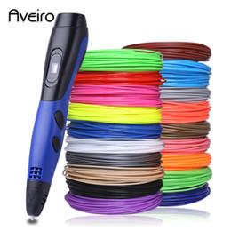 Venta al por mayor de azul rojo verde pluma 3d con abs filamento 3 d Regalos originales USB caneta 3d lapiz para niños de regalos de Navidad