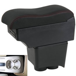 Phone for old online shopping - For old polo armrest box central Store content Storage box with cup holder USB interface phone holder
