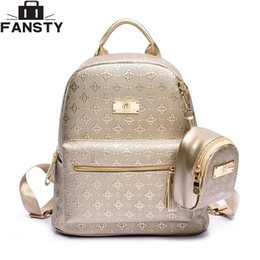 luxury backpacks women NZ - Summer New Luxury Women Backpack With Purse Bag Female Pu Leather Embossing High Quality School Bag For Teenagers Travel Bag Y19051502