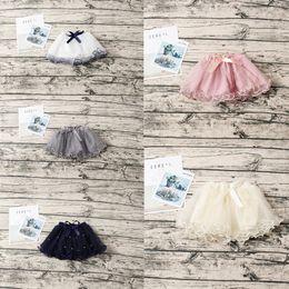 Discount little girls fashion tutu skirts - Fashions Little Girls Tutu Skirt Princess Gauzy Skirt Pearl Bow Designs Mini Lovely Children Girls Ruffles Party Dresses
