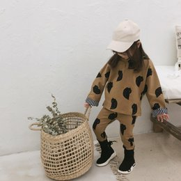 Sweet Boy Cartoon NZ - 2018 Autumn And Winter New Arrival clothing sets cotton fashion cartoon hooded Suit For cool sweet cute baby Boys And