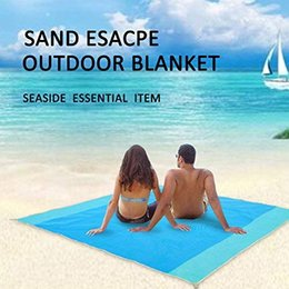 Discount sand free mat - 200 x 200cm Beach mat sand free magic mat beach sandless foldable outdoor waterproof blanket camping picnic folding