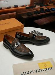 Ingrosso Scarpe da uomo in pelle da uomo, scarpe oxford da uomo vestite da sposa, scarpe da ufficio d'affari, slip on uomo zapatos de hombre
