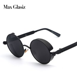 $enCountryForm.capitalKeyWord Australia - Maxglasiz Brand New 2018 Mirror Lens Round Glasses Goggles Steampunk Sunglasses Vintage Retro For Men And Women Hisper Eyewear MX190723
