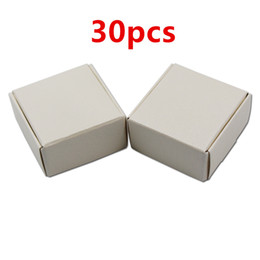 $enCountryForm.capitalKeyWord Australia - 30pcs Small 4*4*2cm Gift Packaging Kraft Paper Box For Jewelry Event Party Wedding Candy Chocolate Bakery Baking Cake DIY Soap free shipping