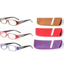3cbac04487 Anteojos de lectura Presbicia lentes de lente de resina con bolsa 1.0 1.5  2.0 2.5 3.0 3.5 anteojos de fuerza LJJK1475