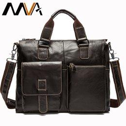 345e9c25afb1f Maletín masculino de lujo de cuero genuino de los hombres para hombre  Maletines de abogado de cuero 14 Messenger Laptop bolsa de oficina para  hombres bolsas ...