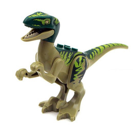 toy dinosaurs Australia - Dinosaur Model Toys Jurassic Dinosaur Figures Model Bricks Mini Figures Building Blocks Kids Educational Toys Novelty Items