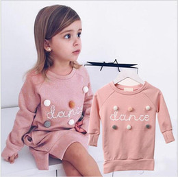 rabbit sweatshirt girl NZ - AiLe Rabbit 2019 Autumn Winter Cartoon Letter Embroidery Sweatshirt Girl Fashion Long Hoodie Dress Pullover Moletom Feminina