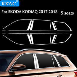 $enCountryForm.capitalKeyWord Australia - wholesale Car Styling Stainless Steel Decorative Sequins For Skoda Kodiaq 2017 Car Full Window Trim Chrome Covers Chromium Styling