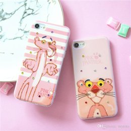 $enCountryForm.capitalKeyWord Australia - Factory price Luxury Cartoon Pink Solf Silicone Cover Diamond Pink Leopard Pattern Phone Case For iPhone 6 6s 7 8 Plus X 10 Back Cover Capa