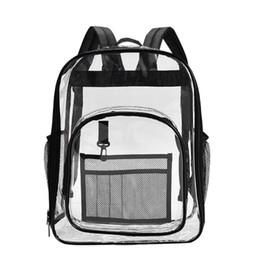 Clear Pvc Backpacks NZ - Waterproof Clear Backpack Transparent PVC Shoulder Women Adults Students See Through Bookbag Knapsack