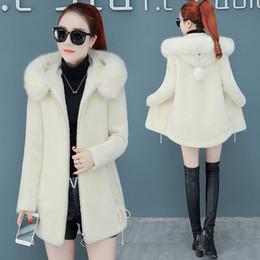 Mink Long Jacket Australia - Elegant Solid Imitation Mink Velvet Coat Loose Pockets Hooded Coat and Jacket Fashion Warm Long Women Coats Autumn Winter A462