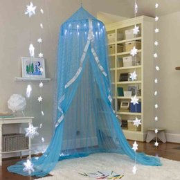 $enCountryForm.capitalKeyWord Australia - Elegant Kids Baby Bedding Round Dome Bed Canopy Netting Bedcover Mosquito Insect Reject Canopy Bed Curtain Tent A723