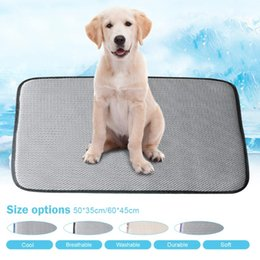 pet cool pad UK - Dog Mat Cooling Summer Pad Mat For Dogs Cat Blanket Sofa Breathable Pet Dog Bed Summer Washable For Small Medium Large Dogs Car