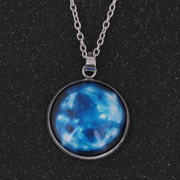Gem chains online shopping - 12 Constellations Time Gems Night light Chain Necklace Pendant Zodiac Jewelry For Friends Best Magic Gifts Dropshiping