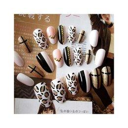 $enCountryForm.capitalKeyWord Australia - Fashion 24pcs set Acrylic Fake Fingernails Trend Leopard Design False Nails Simple Middle-long Size Lady Full Nail Tips Patch