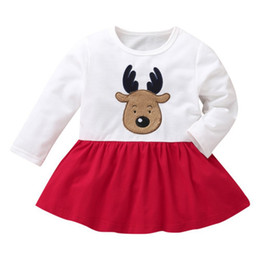 cotton party dresses for toddlers 2019 - Winter Autumn Newborn infant Baby Dress Cotton Toddler Dress Xmas Party Dresses for Girls Fashion Baby Girl Clothes disc