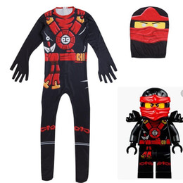 Carnival Suits Kids Australia - NEW Cosplay Boys girls NINJAGO Fancy Body suit Kids Fantasy Comics Carnival Party Halloween Jumpsuit Costumes