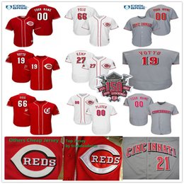 150th Anniversary Patch 66 Yasiel Puig 19 Joey Votto 27 Matt Kemp 40 Alex  Wood Sonny Gray Men Lady Kids Youth Cincinnati Baseball Jerseys 9486a6056